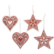 Christmas Ornate Tree Decoration in Star or Heart 4100